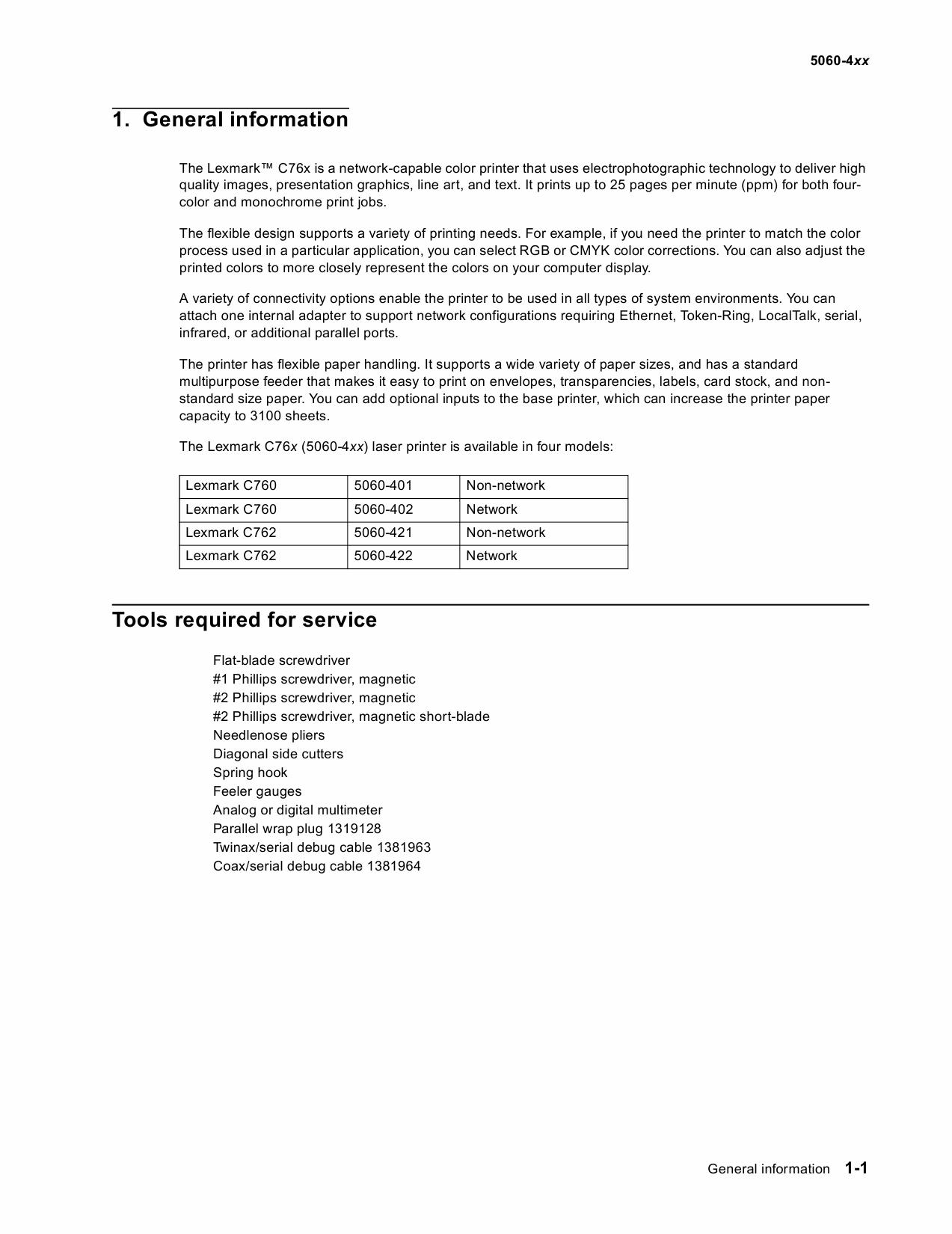 Lexmark C C760 C762 5060 Service Manual-2